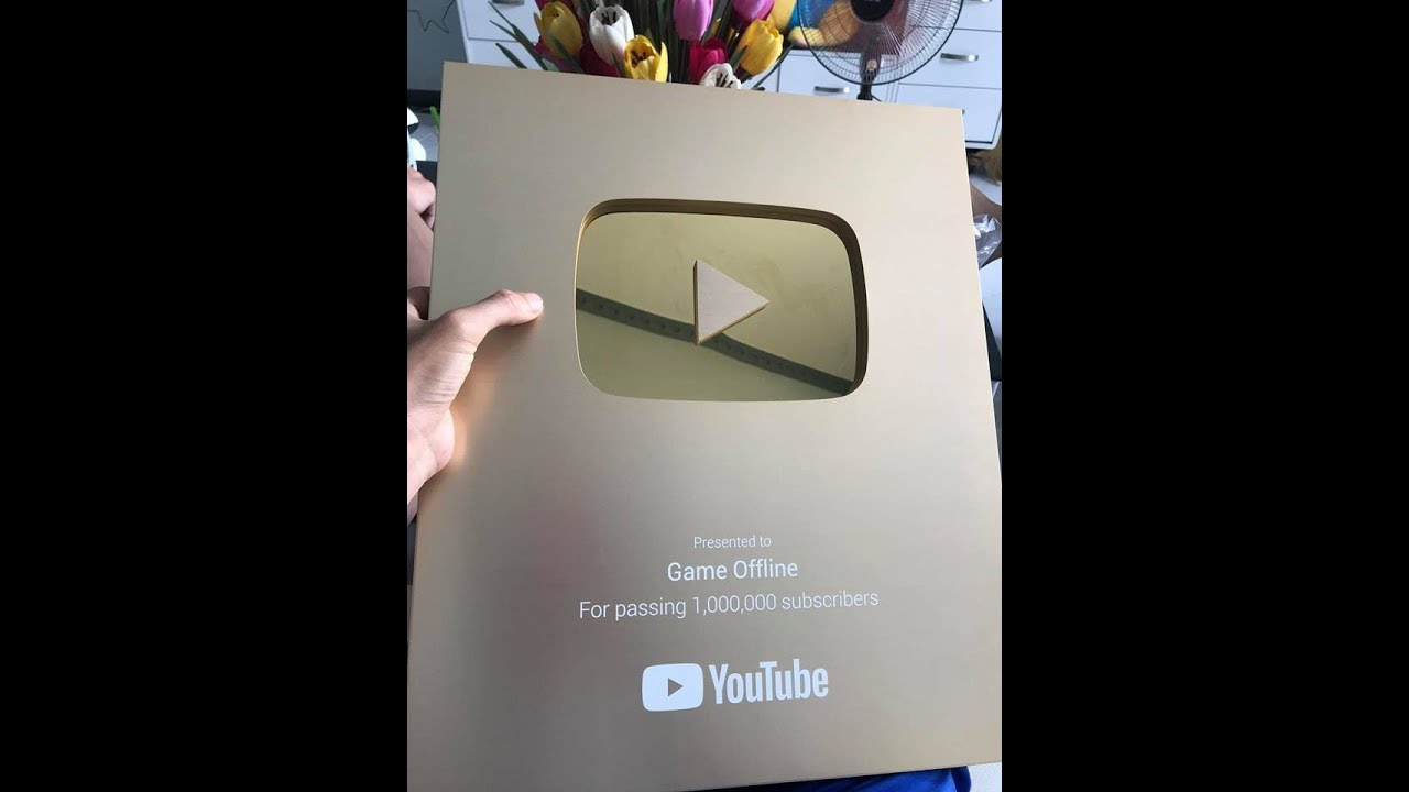 Nút vàng kênh Game Offline mình về rồi nè! (Gold Play Button Youtube)