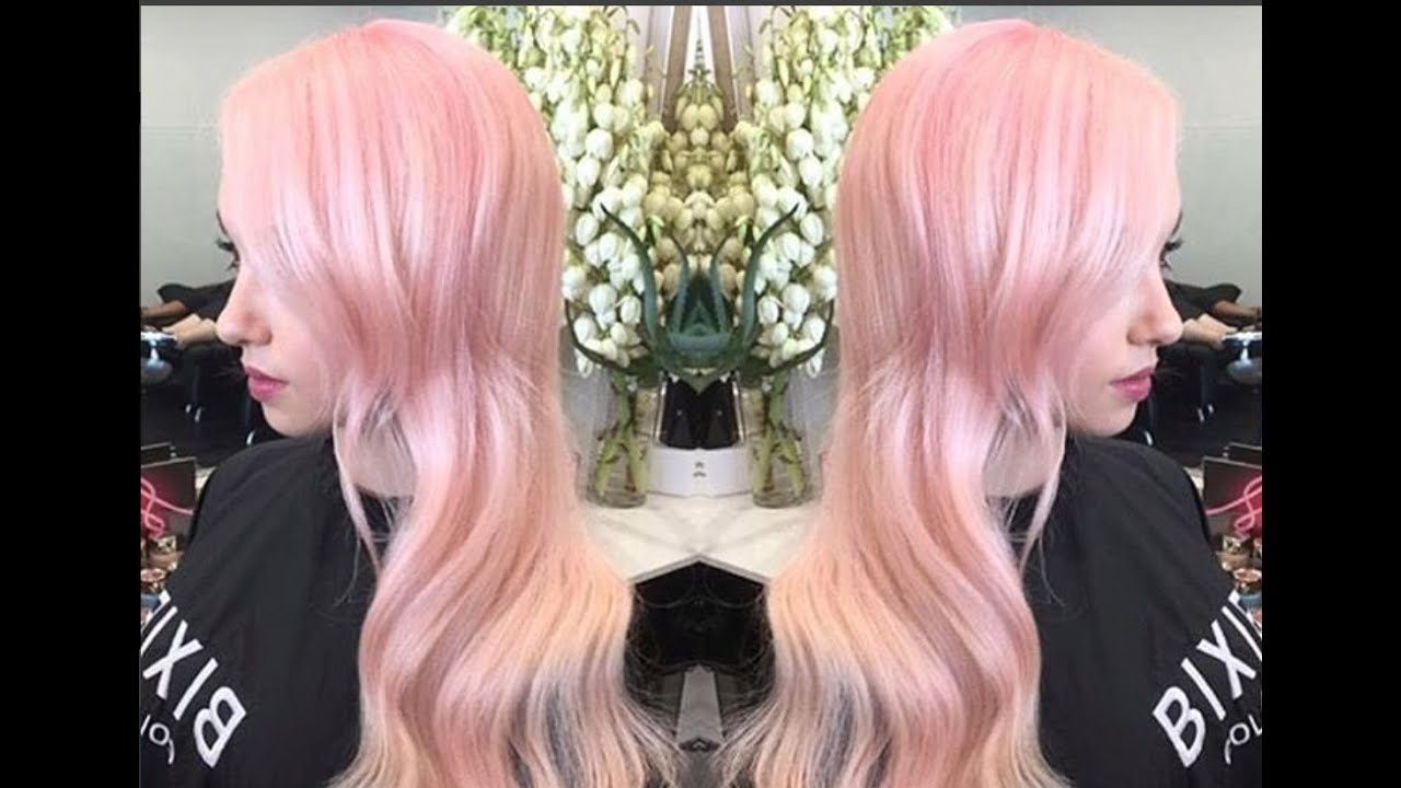 How To Get Peachy Pink Pastel Hair The Process And Product
