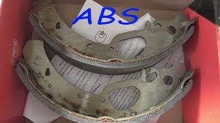 замена задних колодок приора с ABS