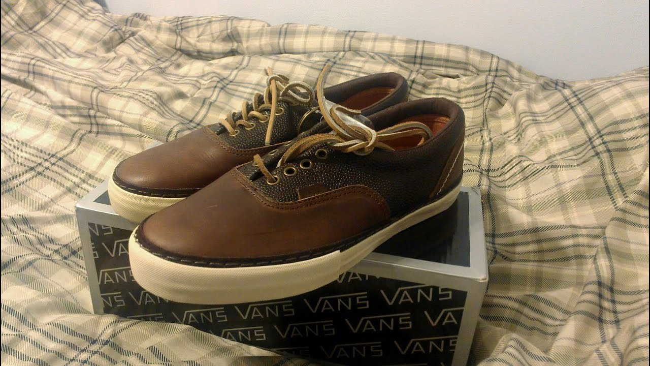 2d797ecd580a90 Vans Vault x Horween Era LX Havana Brown Review Fall 2012 Leather ...