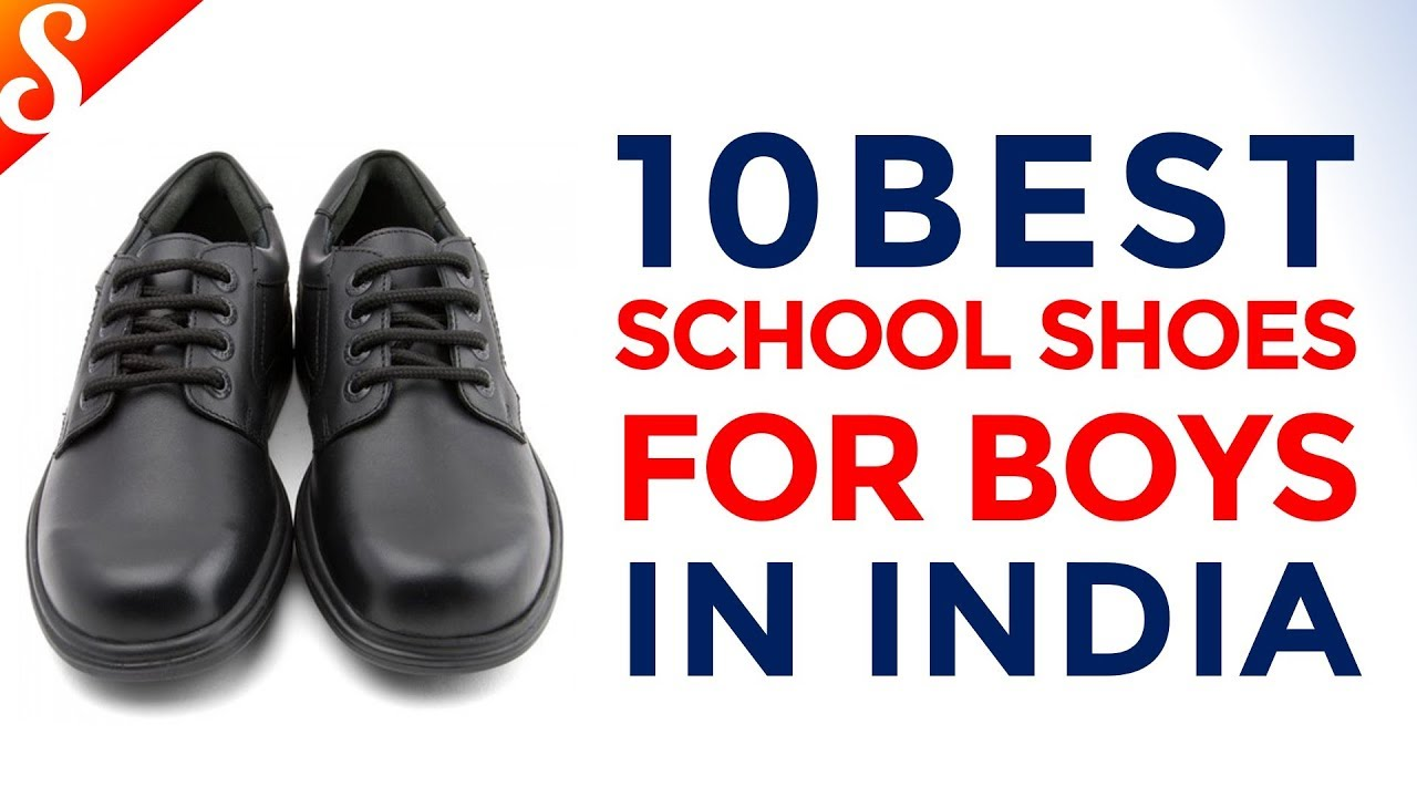 7f00a0d5bb37 10 Best School Shoes for Boys (Black) in India with Price - YouTube