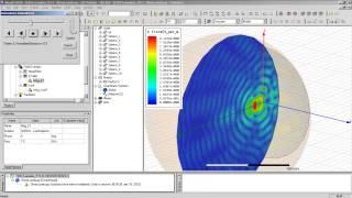 Видеоурок CADFEM VL1214 - Использование ANSYS HFSS для задач рассеяния электромагнитных волн ч.2.4.