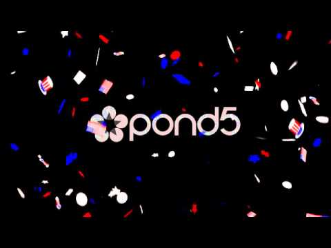 Confetti America Seamless Loop - After Effects - Cinema 4D - Stock Footage
