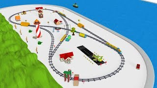 Train Cartoon for Kids - Trains for children - Choo Choo Train - Toy Factory