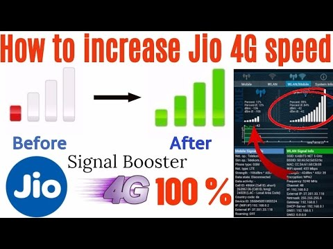 Jio 4G speed increase | Cell signal booster | How to increase jio 4G
