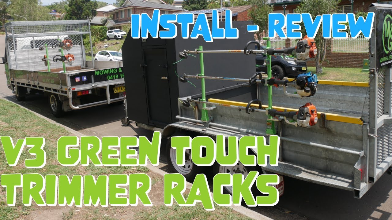 green touch trimmer rack v3 install and review australia