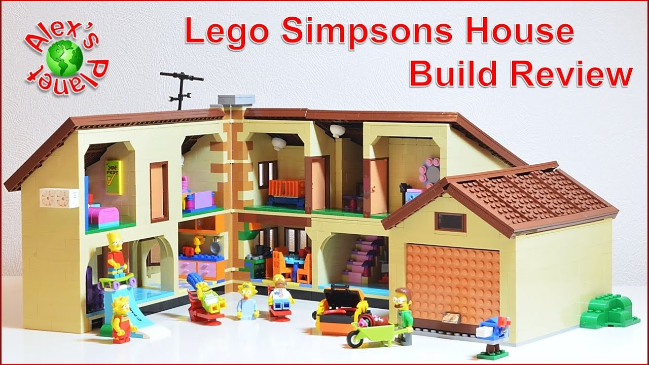 Lego Simpsons House Build Review Youtube