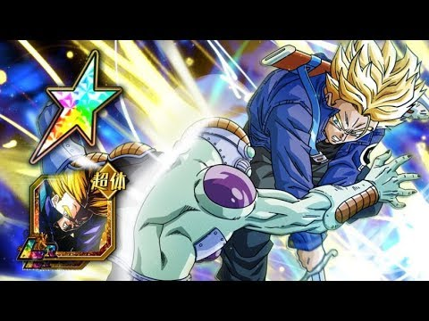 THE HIGHEST STATS IN THE GAME? 100% RAINBOW STAR LR TRUNKS SHOWCASE! (DBZ: Dokkan Battle)