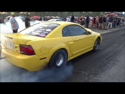BoostedGT vs wheelie popin mustang at the dirty south no prep