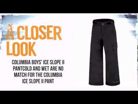 669465eee3e5 Columbia Ice Slope II Pant Boy's-Black - TheSkiBum.com - YouTube