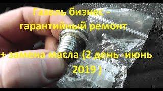 Газель бизнес - гарантийный ремонт + замена масла (2 день-июнь 2019)