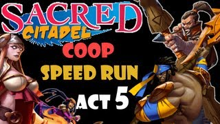 Sacred Citadel Co-op: Act 5 Jungle Hunt DLC ~ Speed Run ~ PS3 Dual Commentary