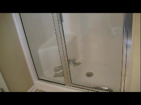 how to demo a fiberglass shower