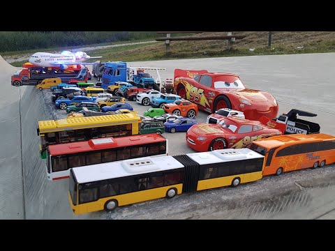 Toy Cars driving and play Sliding Cars with too many cars Video for Kids