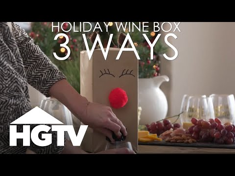 3 Ways to Decorate a Wine Box for the Holidays - HGTV