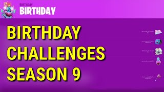 *NEW* Fortnite Season 9 Birthday Challenges and Rewards LEAKED
