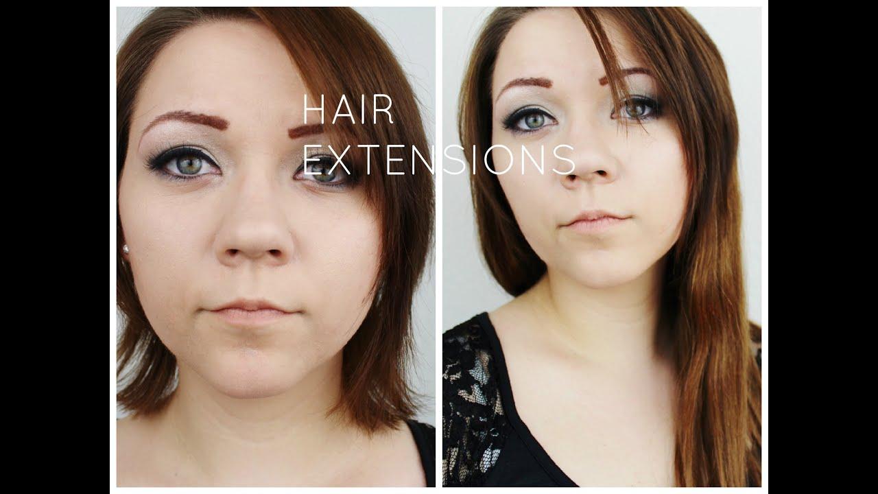 Kurze haare extensions frisur