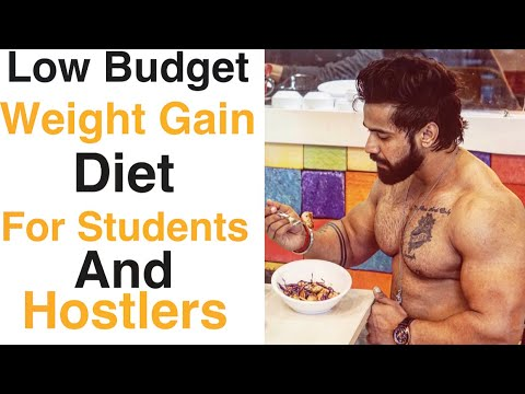 Low Budget Weight Gain Diet For Students||Low Budget Diet For College Or Hostel Students|Indian body