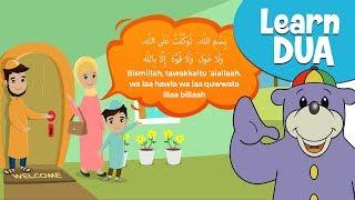 Erfahren DUA mit ZAKY! - Wenn Wir das Haus Verlassen | Cartoon für muslimische KINDER