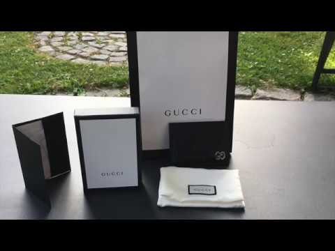 ffdd0ef19c1 Gucci Signature Card Case Unboxing - YouTube