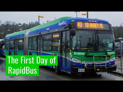 The First Day Of RapidBus In Vancouver