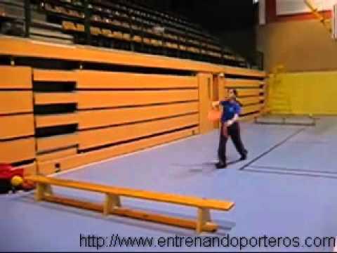 Exercices de gardien but handball 3 - YouTube