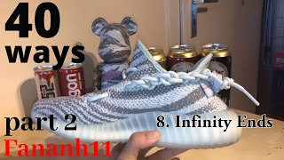29 WAYS lacing Yeezy 350 PART 2: Chester Bennington, XXXtentacion, Kaws 3...