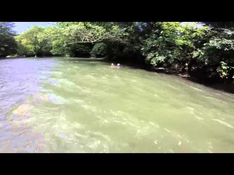Little Miami River - floating down the rapids - YouTube