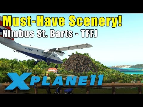 X-Plane 11: Nimbus Simulation's St. Barts Scenery - Best Approach in the World!
