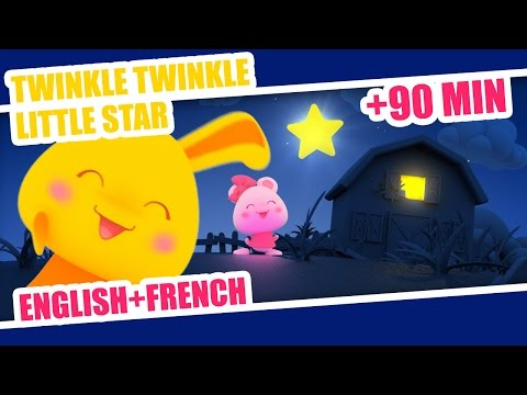 Twinkle Twinkle Little Star | French Nursery Rhyme + 80min of kids songs