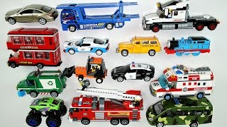 Learning Street Vehicles Names and Sounds for kids - Learn Cars, Trucks, Tractors, Ambulance, Police