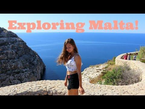 Exploring Malta & Boat Ride through Blue Grotto!! // HaileyEliza'sTravels