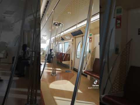 Doha metro train // feeling relax #dohametrotrain #dohaqatar