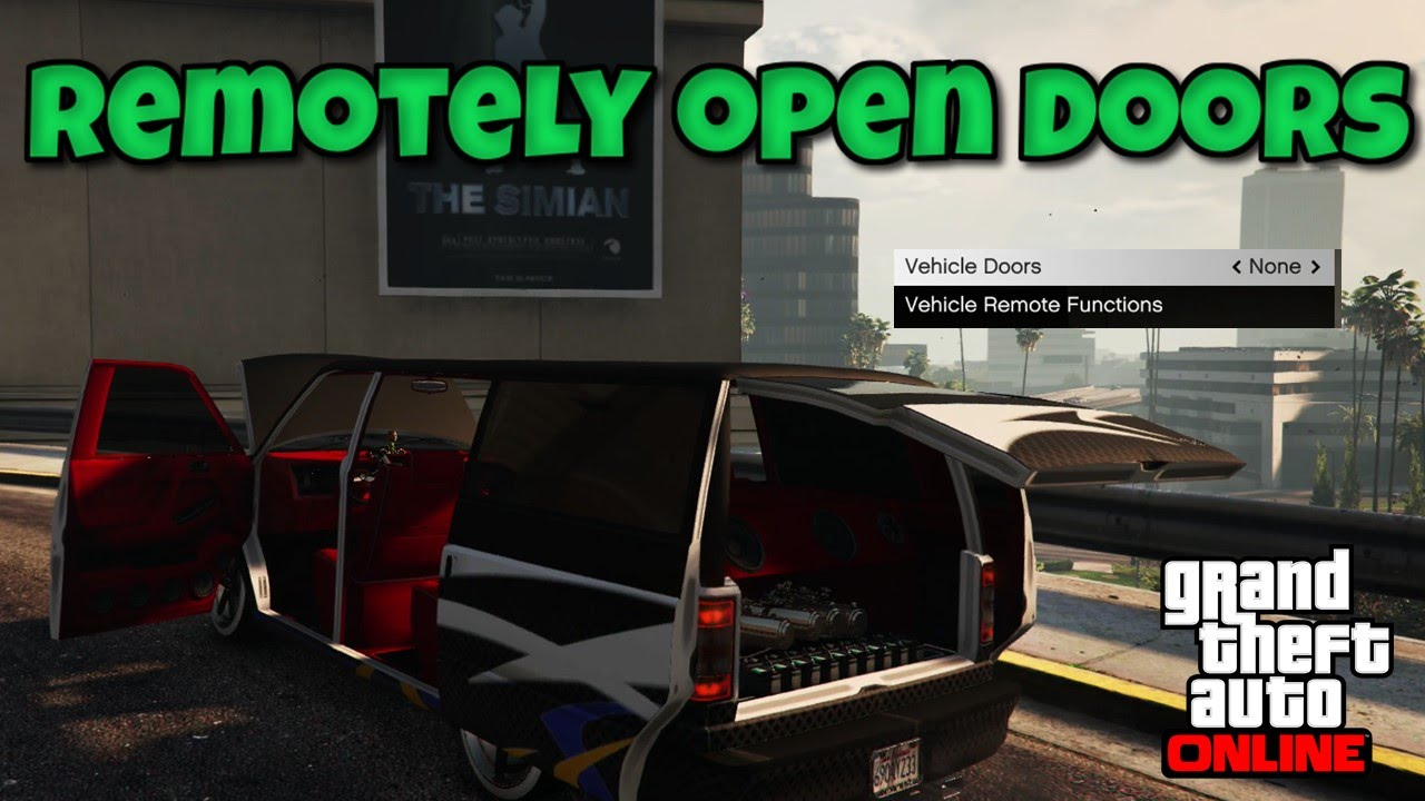 Gta 5 How To Remotely Open Your Doors And Hood Guide