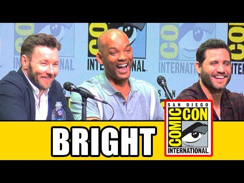 BRIGHT Comic Con Panel News & Highlights - Will Smith, Joel Edgerton, Noomi Rapace