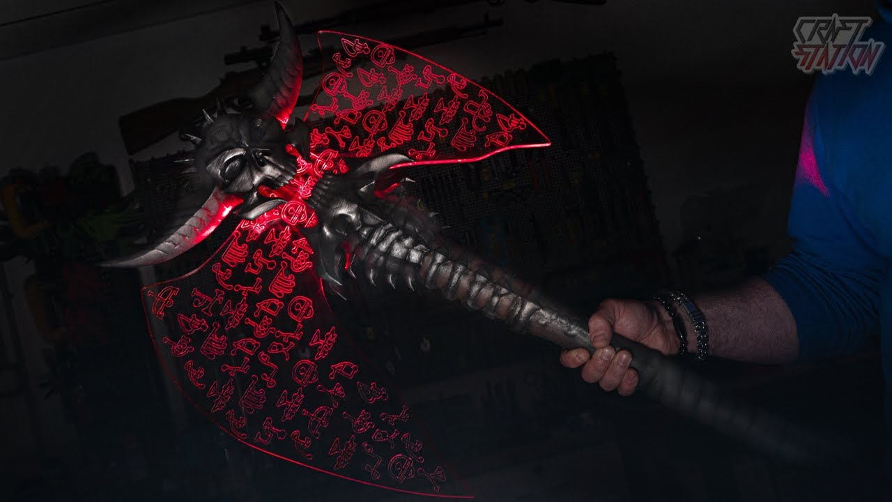 doom eternal marauder axe replica