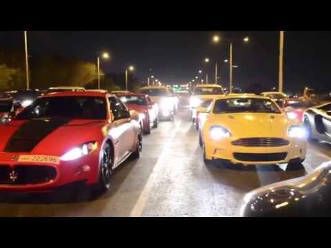 Крутые тачки: Самые Кртутые Тачки Дубая 2015 на трассе