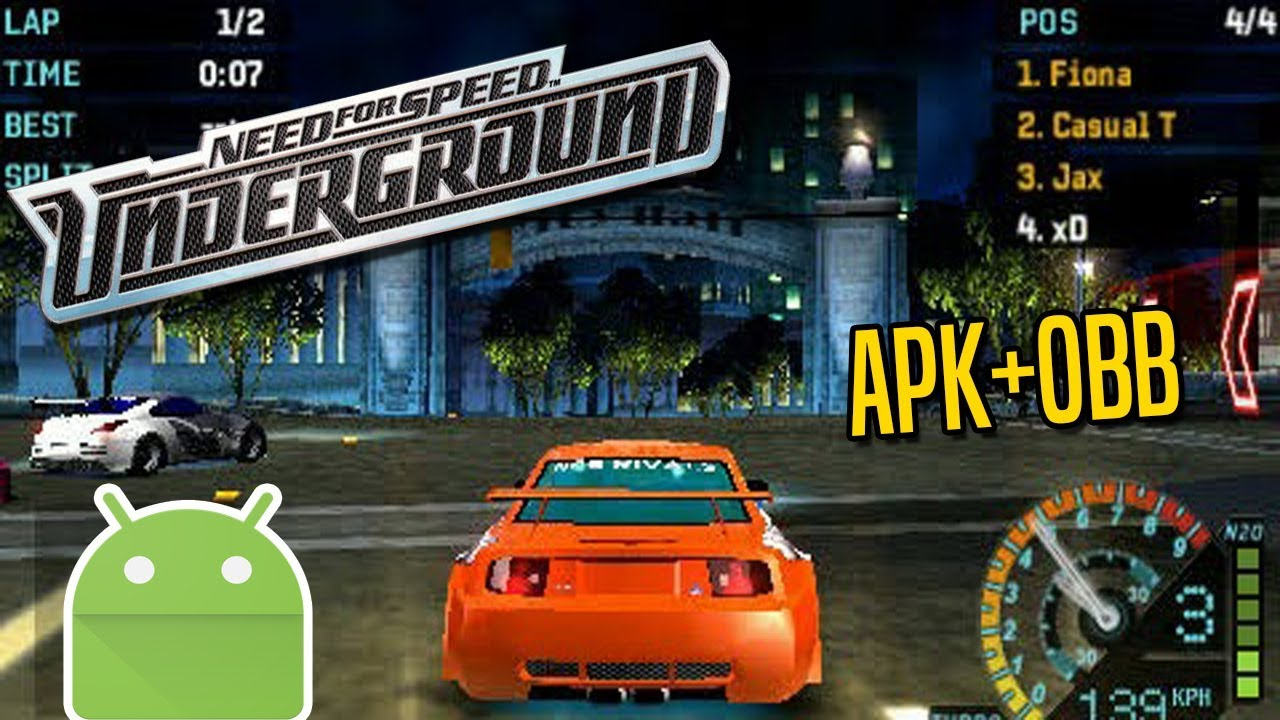 NOVO!! Need for Speed UNDERGROUND para ANDROID! - (APK+OBB) 200mb!