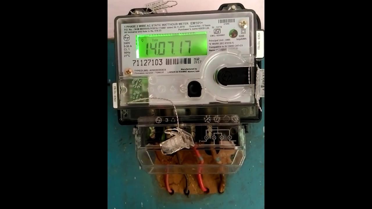 hight resolution of kseb electronic meter