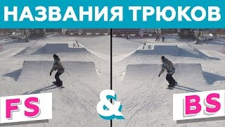 Названия трюков в сноуборде. Терминология