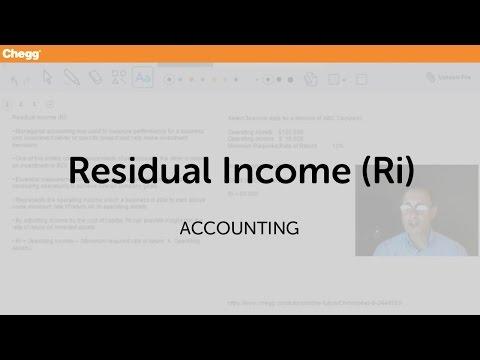 Residual Income (RI) | Accounting | Chegg Tutors