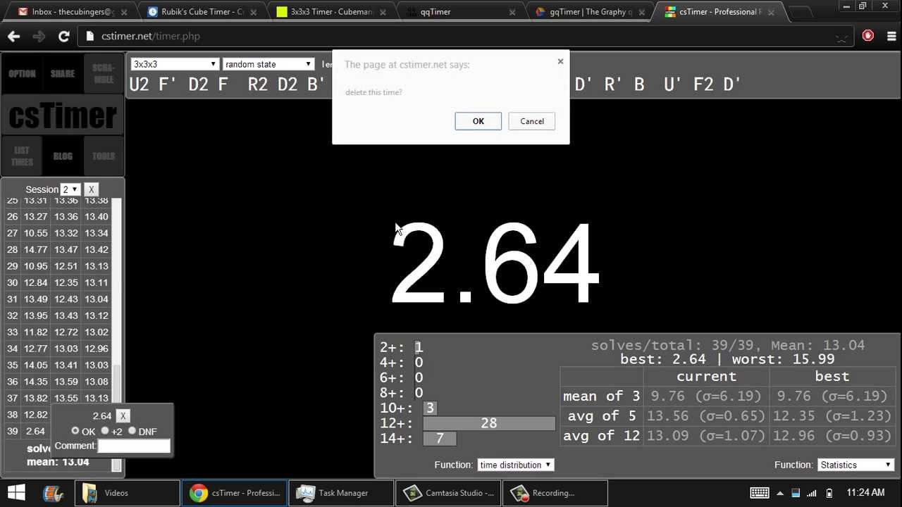 Online Cube Timer Comparison - YouTube
