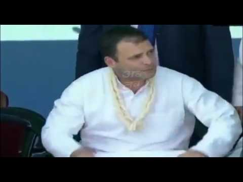 Woman kisses Congress President Rahul Gandhi during a rally in Valsad Mp3