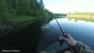 Ловля щуки на реке троллингом Рыбалка на реке удочкой