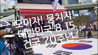 8.15 태극기 애국총단결 2018.8.11/서울역.대한문.광화문 광장