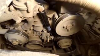 замена амортизатора ролика натяжителя приводного ремня мерседес w202