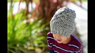 Crochet Celtic Wave Slouch Beanie Pattern & Tutorial