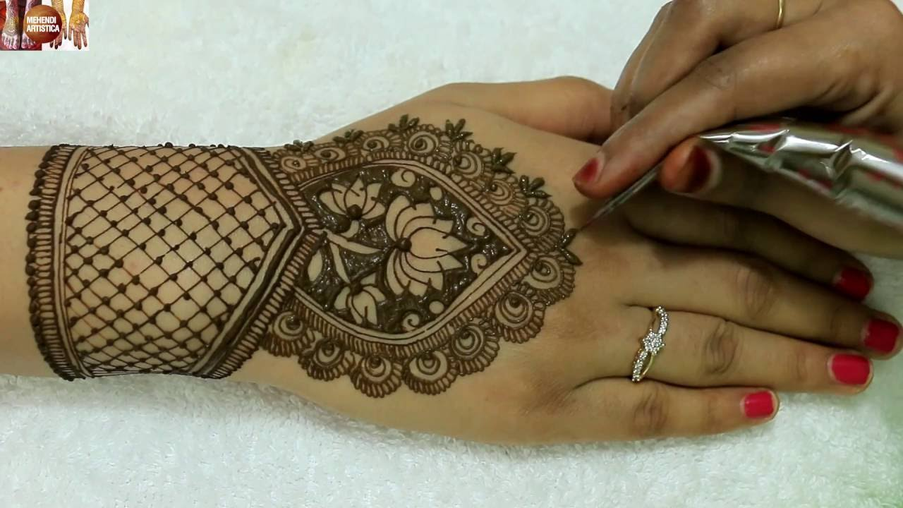 Indian Bridal Mehndi Designs For Hands: Easy Beautiful rh:youtube.com,Design