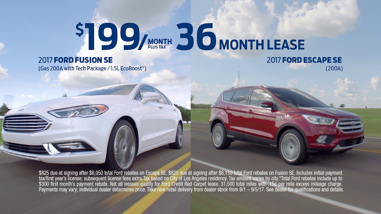 Lease Ford Fusion >> 2017 Ford Lds Lease Fusion Escape