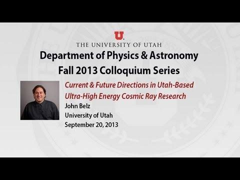 Colloquium: John Belz, Sept. 20, 2013